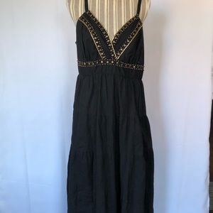 Torrid black tiered dress with beading detail sz 2